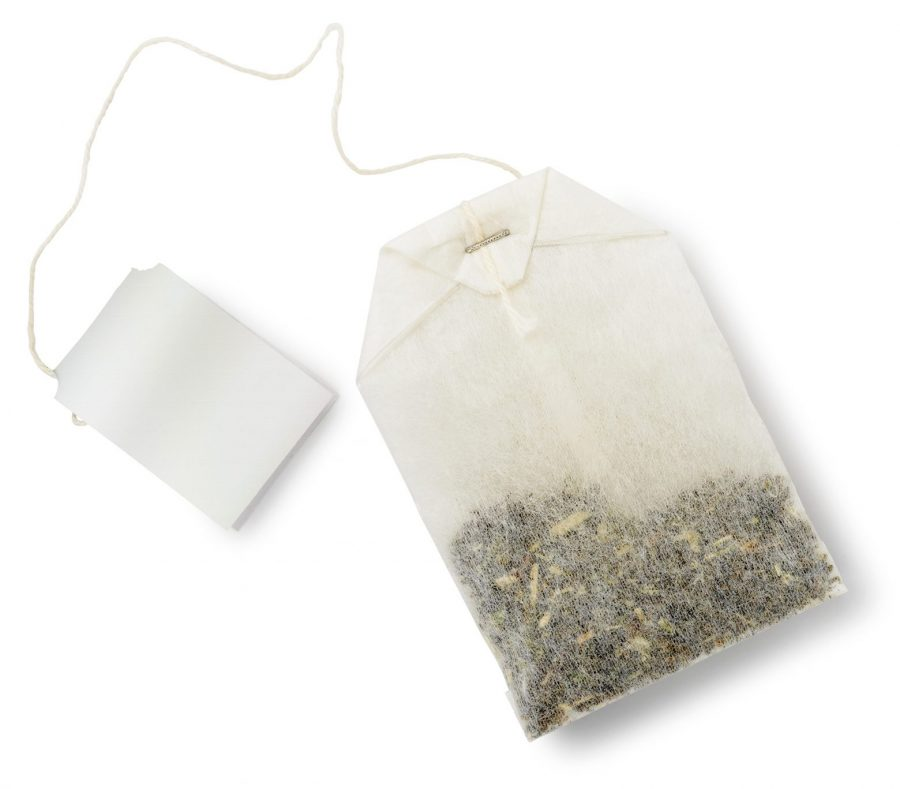 CBD oil infused tea bag
